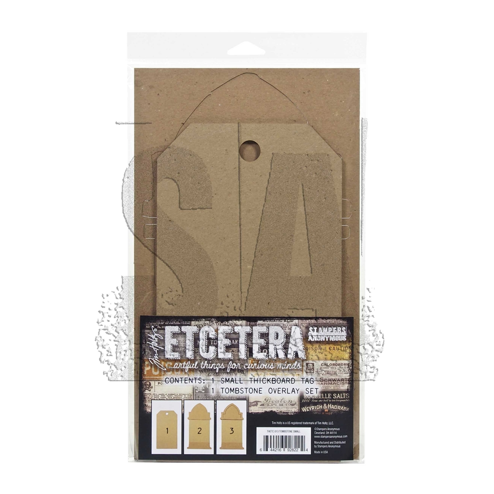 Tim Holtz Etcetera TOMBSTONE SMALL ETC013 zoom image