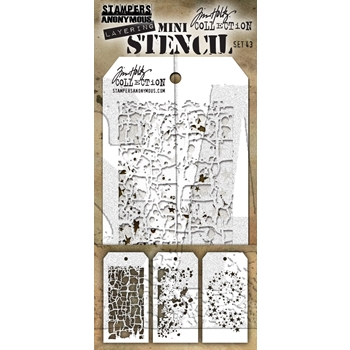 Tim Holtz MINI STENCIL SET 43 MST043