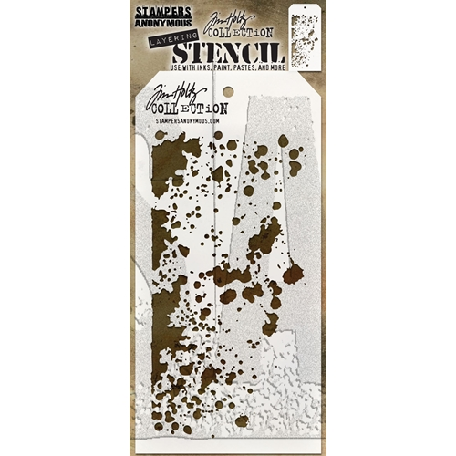 Tim Holtz Layering Stencil GRIME THS130 Preview Image
