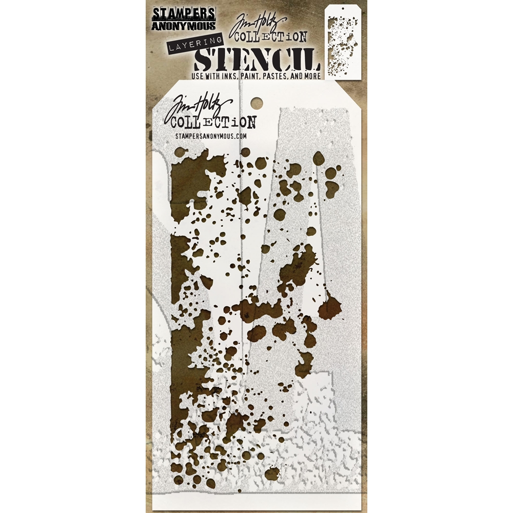 Tim Holtz Layering Stencil GRIME THS130 zoom image