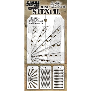 Tim Holtz Shifters MINI STENCIL SET 42 MST042