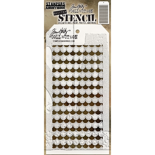 Tim Holtz Layering Stencil SHIFTER SCALLOP THS128 Preview Image
