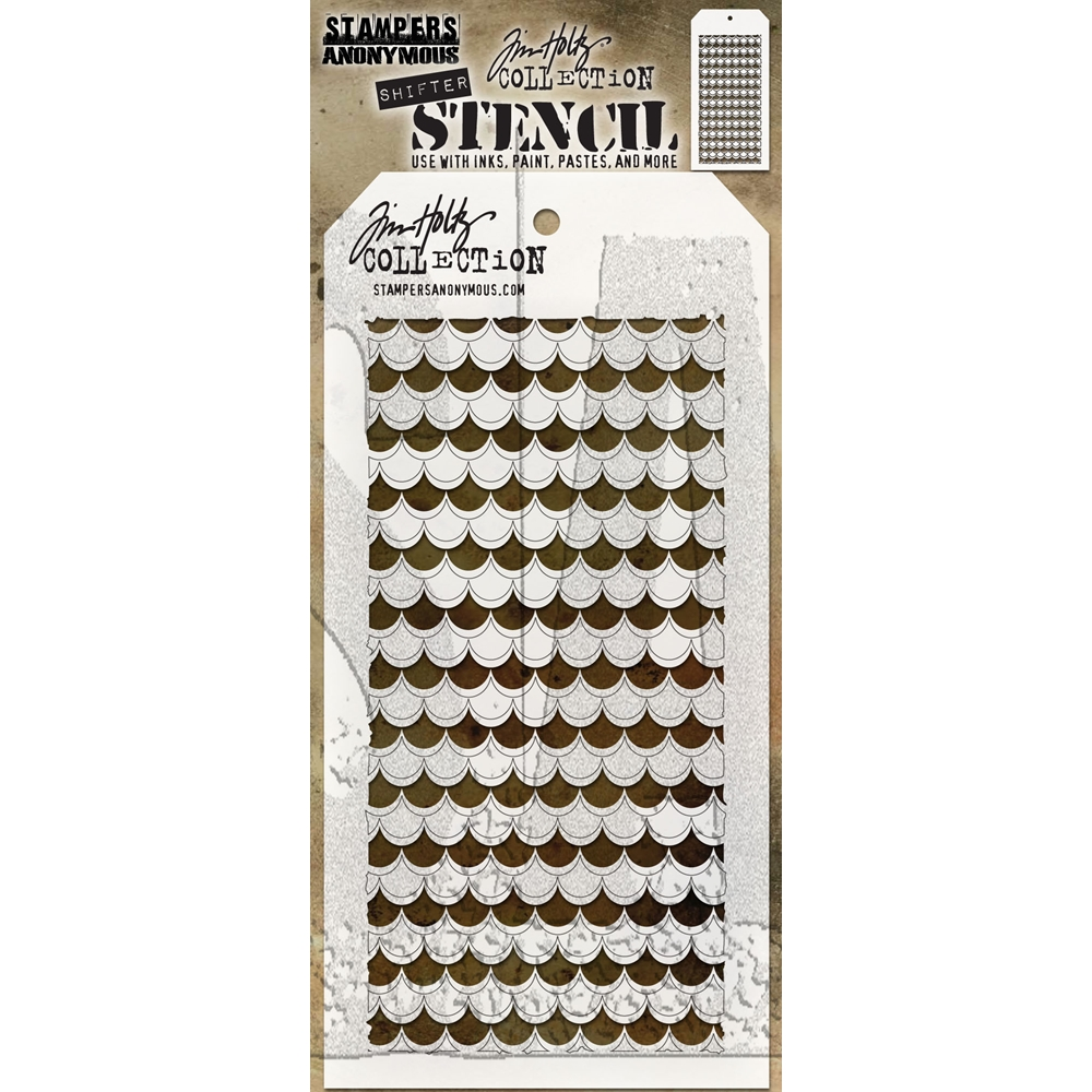 Tim Holtz Layering Stencil SHIFTER SCALLOP THS128 zoom image