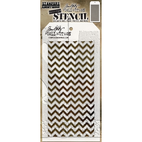 Tim Holtz Layering Stencil SHIFTER CHEVRON THS127 Preview Image