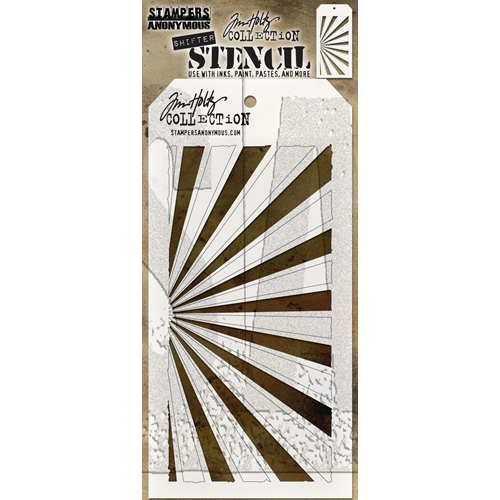 Tim Holtz Layering Stencil SHIFTER RAYS THS126 Preview Image