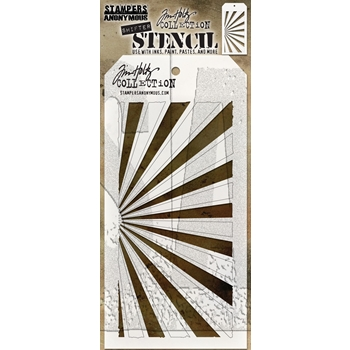 Tim Holtz Layering Stencil SHIFTER RAYS THS126
