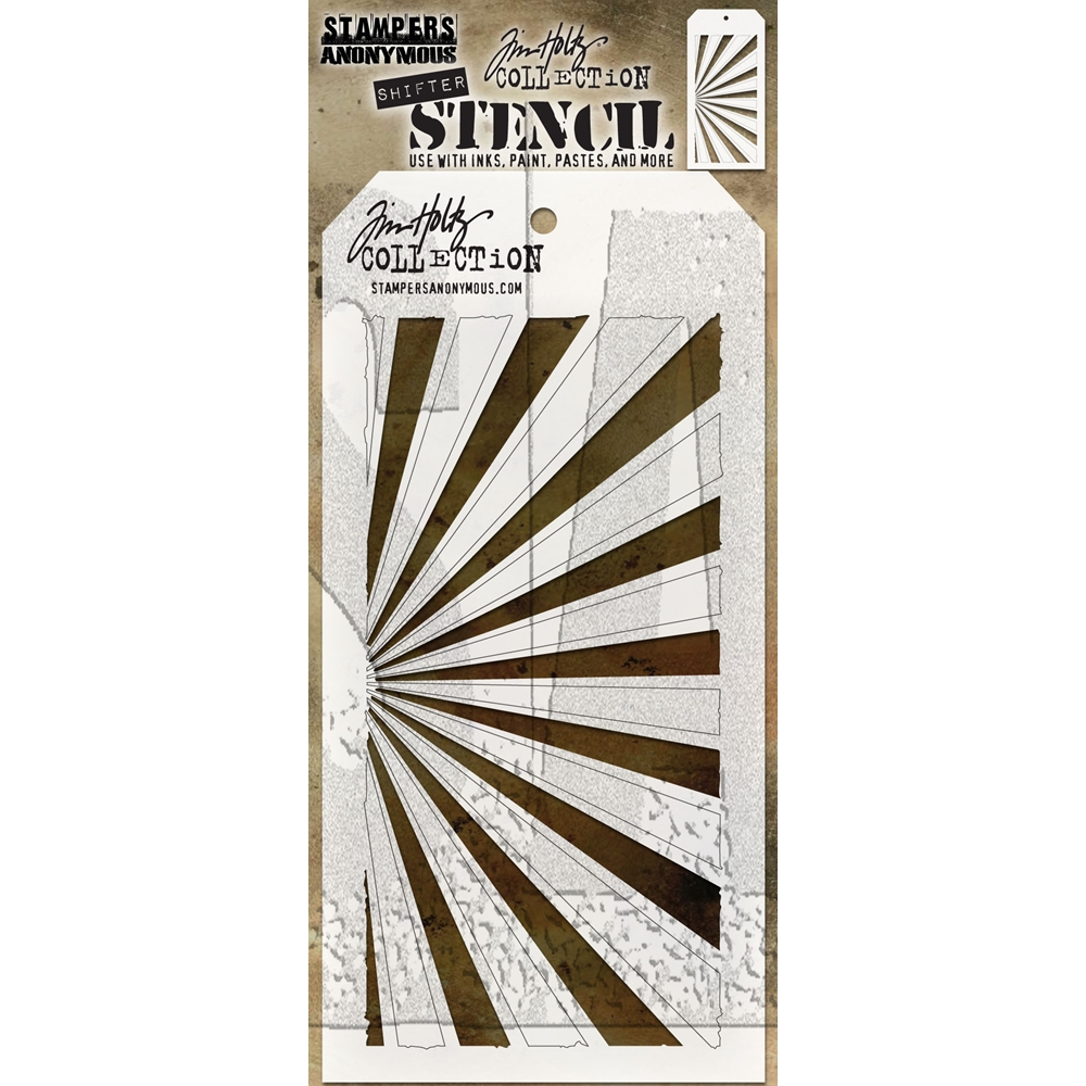 Tim Holtz Layering Stencil SHIFTER RAYS THS126 zoom image