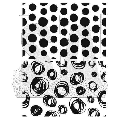 Tim Holtz Cling Rubber Stamps 2019 DOTS AND CIRCLES CMS382 Preview Image