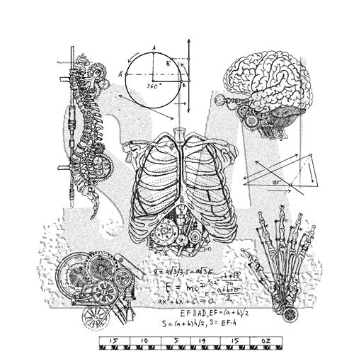 Tim Holtz Cling Rubber Stamps WEIRD SCIENCE CMS379 Preview Image