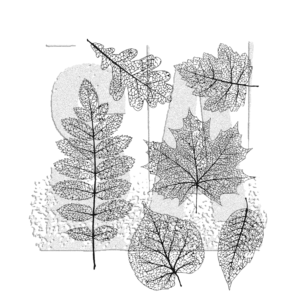 Tim Holtz Cling Rubber Stamps PRESSED FOLIAGE CMS376 zoom image