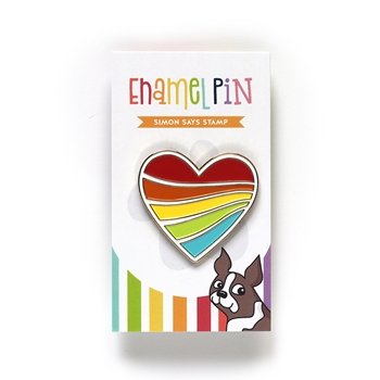 Simon Says Stamp STREAMING HEART Enamel Pin EP1026