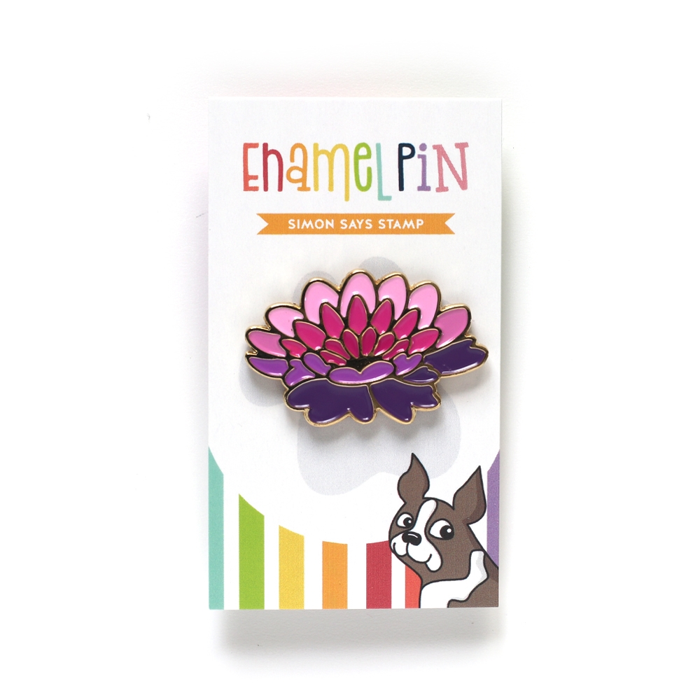 Simon Says Stamp DAHLIA BLOOM Enamel Pin EP1028 zoom image