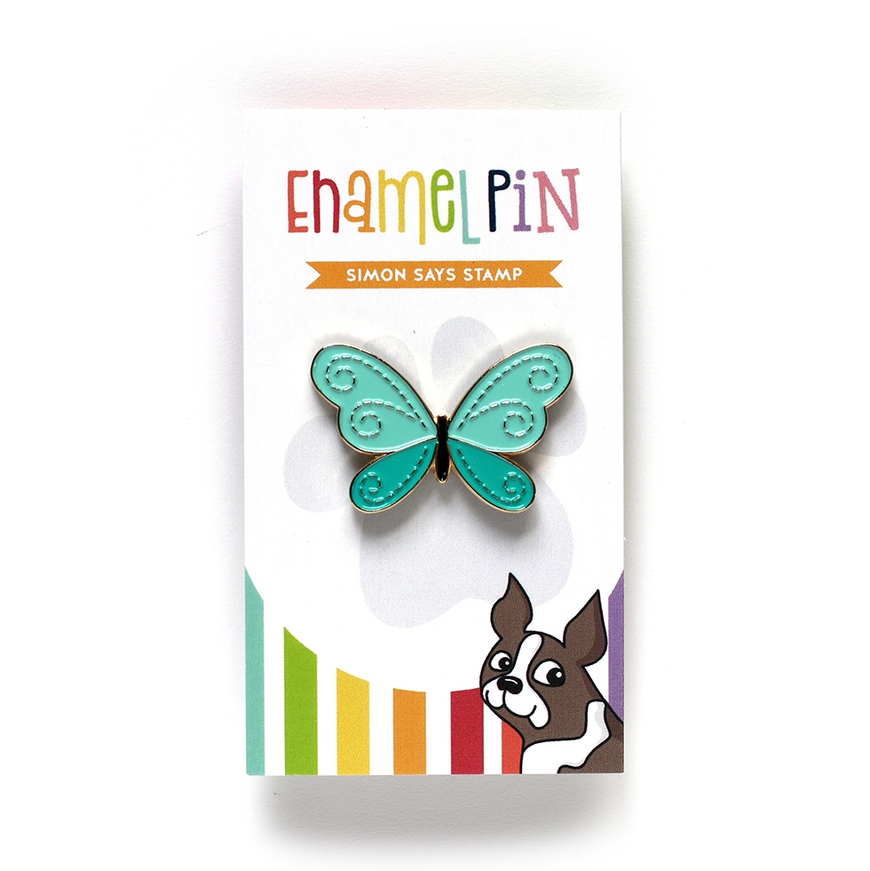 Simon Says Stamp STITCHED MEADOW BUTTERFLY Enamel Pin EP1034 zoom image