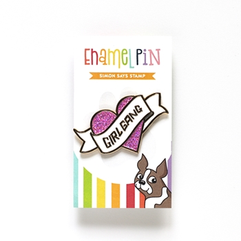 Simon Says Stamp GIRL GANG HEART Enamel Pin SSSpin10
