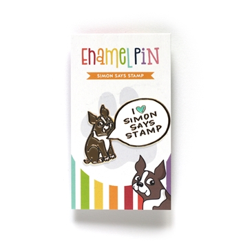 Simon Says Stamp I HEART SIMON SAYS STAMP Enamel Pin SSSpin8