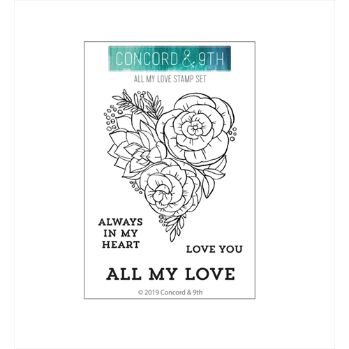 Concord & 9th ALL MY LOVE Clear Stamp Set 10640 Preview Image