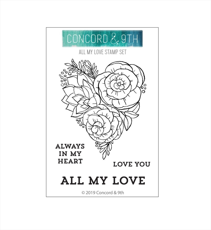 Concord & 9th ALL MY LOVE Clear Stamp Set 10640 zoom image