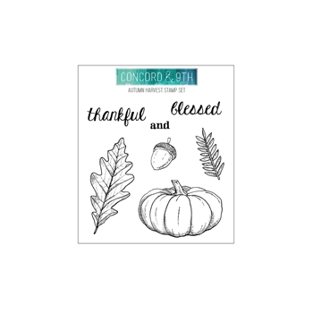 Concord & 9th AUTUMN HARVEST Clear Stamp Set 10658