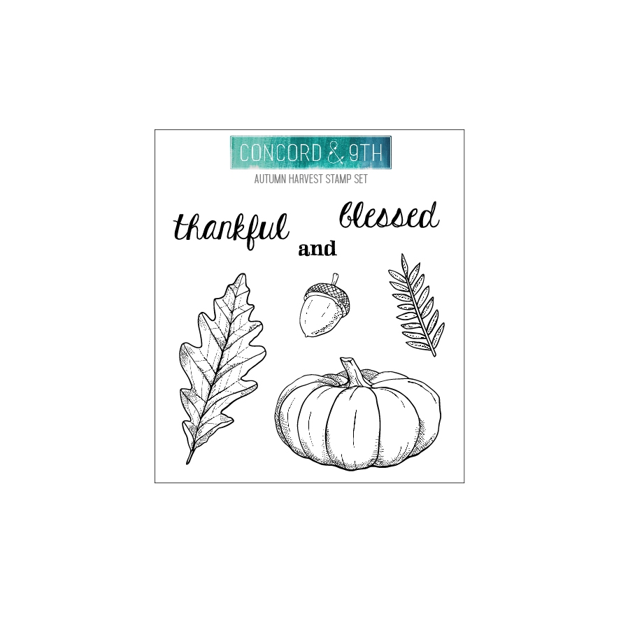 Concord & 9th AUTUMN HARVEST Clear Stamp Set 10658 zoom image