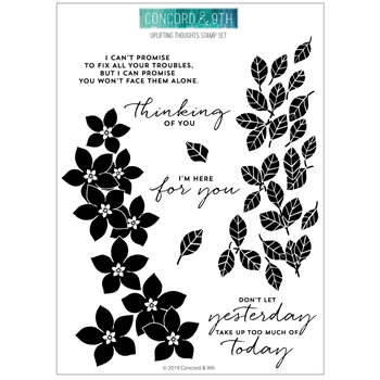 RESERVE Concord & 9th UPLIFTING THOUGHTS Clear Stamp Set 10671