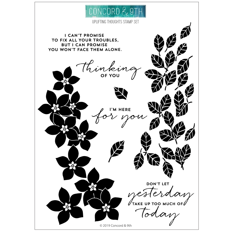 Concord & 9th UPLIFTING THOUGHTS Clear Stamp Set 10671 zoom image