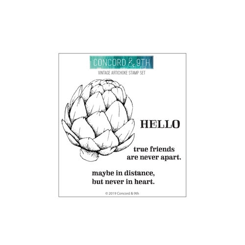 Concord & 9th VINTAGE ARTICHOKE Clear Stamp Set 10674 Preview Image