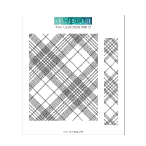 Concord & 9th WOVEN PLAID BACKGROUND Clear Stamp Set 10680 Preview Image