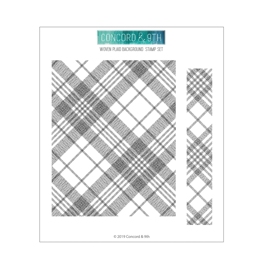 Concord & 9th WOVEN PLAID BACKGROUND Clear Stamp Set 10680 zoom image