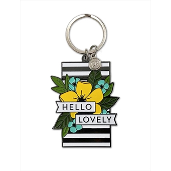 Concord & 9th HELLO LOVELY Enamel Keychain 10655