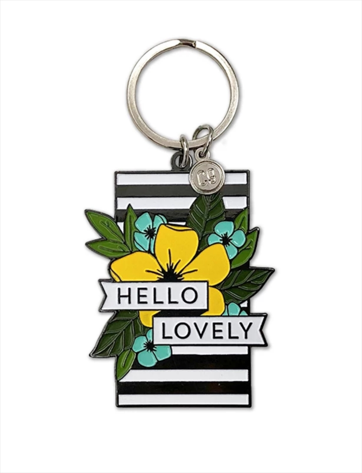 Concord & 9th HELLO LOVELY Enamel Keychain 10655 zoom image