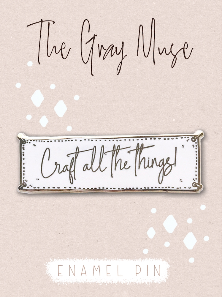 The Gray Muse CRAFT ALL THE THINGS WHITE Magnet Pin tgm-a19-p49 zoom image