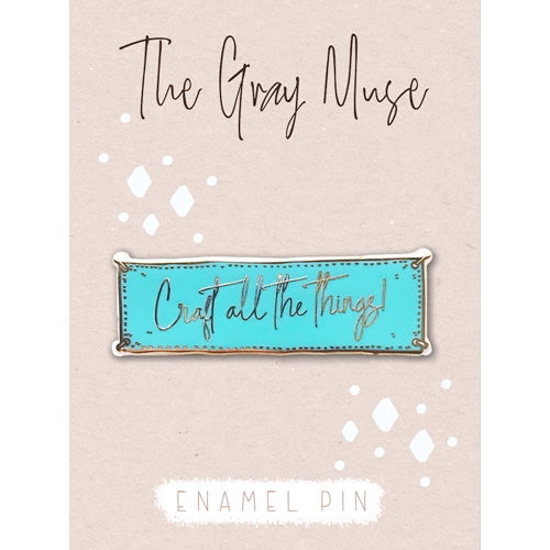 The Gray Muse CRAFT ALL THE THINGS TURQUOISE Enamel Pin tgm-a19-p50* Preview Image