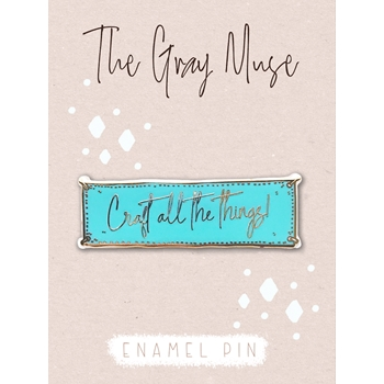 The Gray Muse CRAFT ALL THE THINGS TURQUOISE Enamel Pin tgm-a19-p50