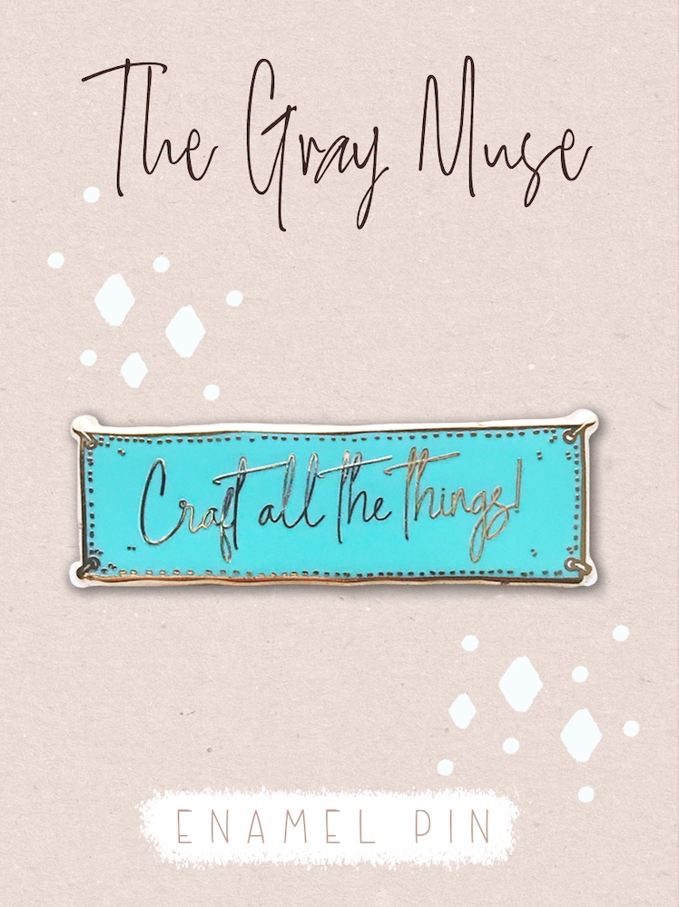 The Gray Muse CRAFT ALL THE THINGS TURQUOISE Enamel Pin tgm-a19-p50 zoom image