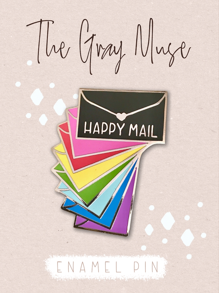 The Gray Muse RAINBOW ENVELOPE PACK Enamel Pin tgm-a19-p51 zoom image