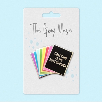 The Gray Muse RAINBOW CARD STOCK PACK Enamel Pin tgm-a19-p52