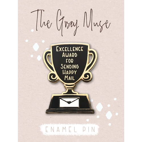 The Gray Muse EXCELLENCE AWARD FOR SENDING HAPPY MAIL Enamel Pin tgm-a19-p56 Preview Image