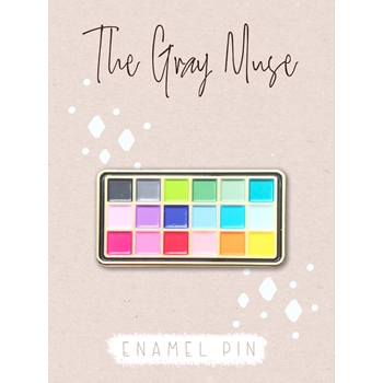 The Gray Muse COLOR PALETTE Enamel Pin tgm-a19-p57