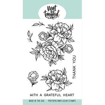 Neat and Tangled GRATEFUL HEART Clear Stamps NAT481