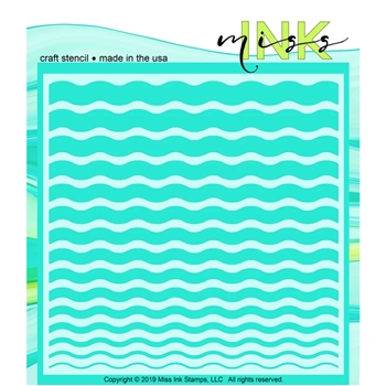 Miss Ink Stamps WAVES Stencil 519t05