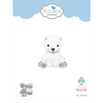 Elizabeth Craft Designs POLAR BEAR Craft Dies 1565