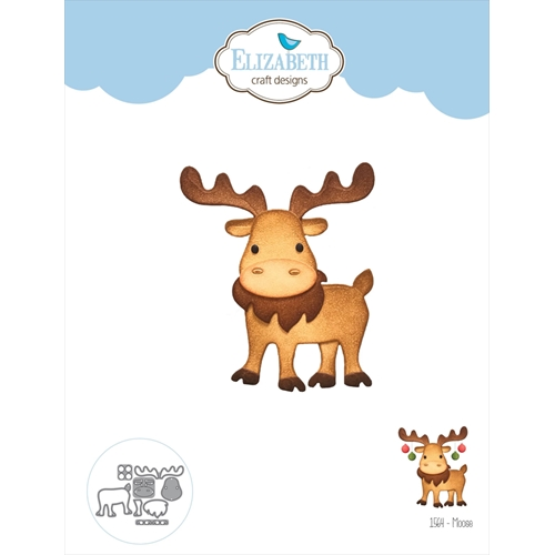 Elizabeth Craft Designs MOOSE Craft Dies 1564 Preview Image