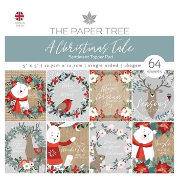 The Paper Tree A CHRISTMAS TALE 5x5 Sentiment Topper Pad ptc1033
