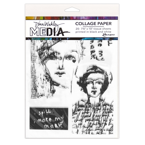Dina Wakley Ranger VINTAGE AND SKETCHES Collage Paper Media mda68181 Preview Image