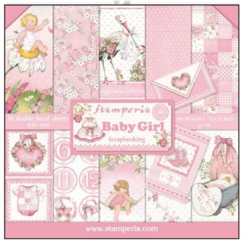 Stamperia BABY GIRL 12x12 Paper sbbl41