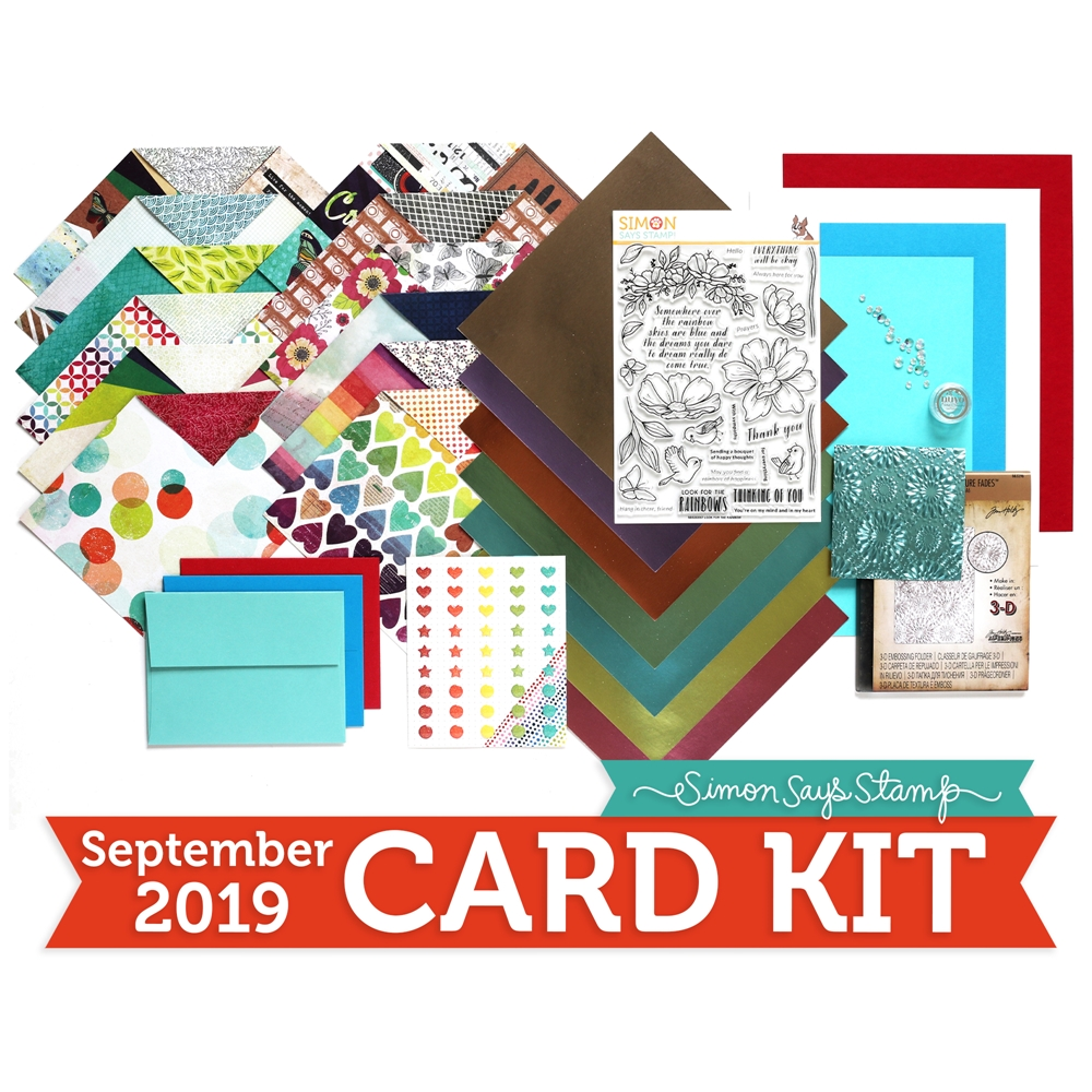Simon Says Stamp Card Kit of The Month SEPTEMBER 2019 LOOK FOR THE RAINBOWS ck0919 zoom image