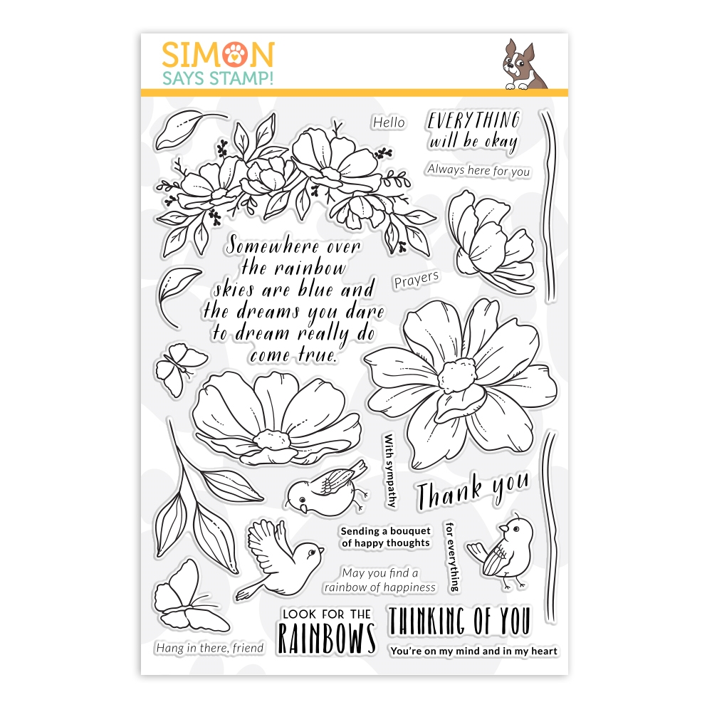 Simon Says Clear Stamps LOOK FOR THE RAINBOWS sss202067 zoom image