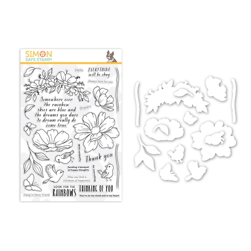 Simon Says Stamp Look For The Rainbows Stamp and Die Set