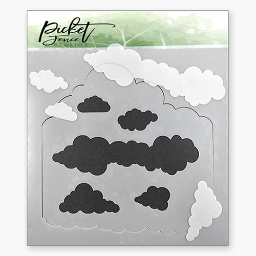 Picket Fence Studios LAYERS OF CLOUDS Stencil sc144 Preview Image