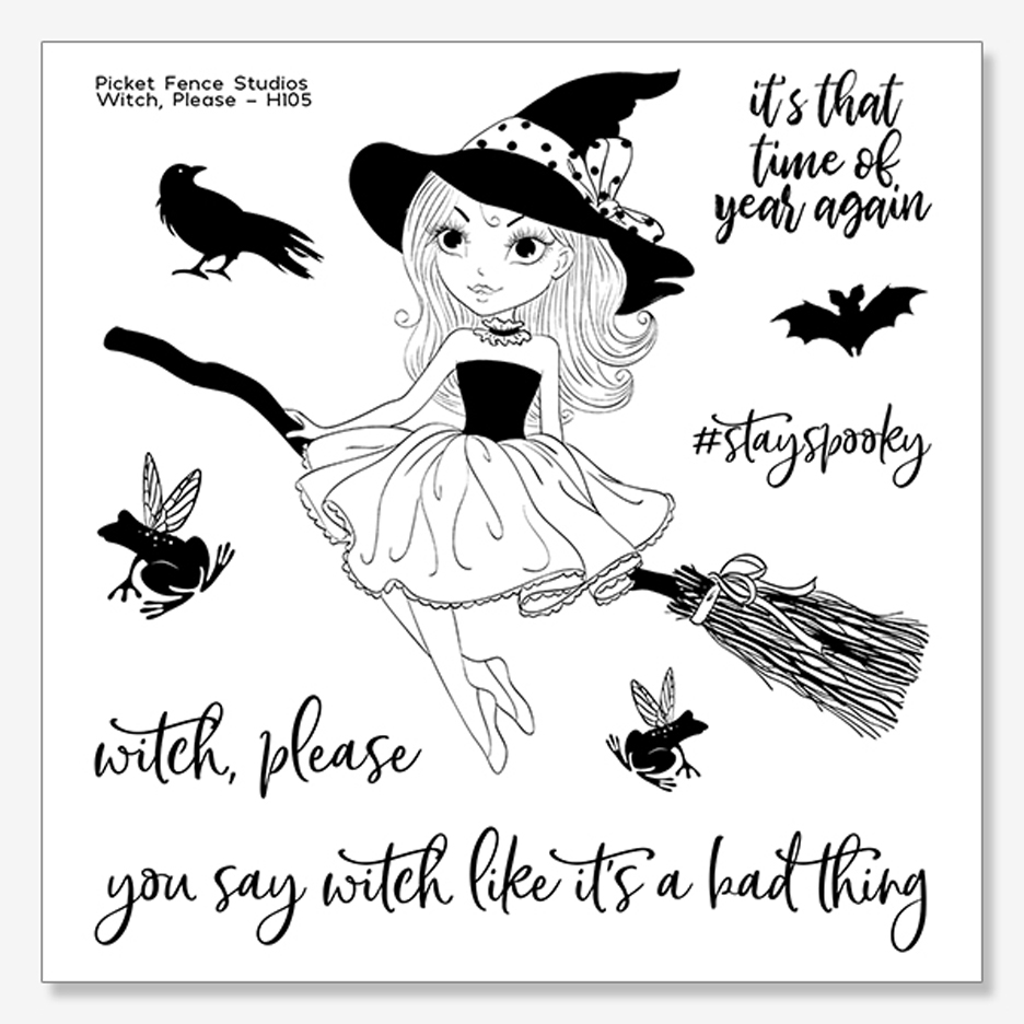 Picket Fence Studios WITCH, PLEASE Clear Stamp Set h105 zoom image